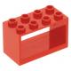 LEGO csörlő tartó 2×4×2, piros (4209)