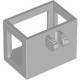 LEGO emelőkosár/darukosár villás csatlakozóval 2×3×2, világosszürke (51858)