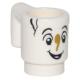 LEGO bögre pohár mosolygó arc mintával (Csészike), fehér (26718)