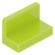 LEGO fal elem 1 x 2 x 1 lekerekített sarkokkal, lime (4865b)