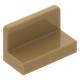 LEGO fal elem 1 x 2 x 1 lekerekített sarkokkal, sötét sárgásbarna (4865b)