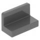 LEGO fal elem 1 x 2 x 1 lekerekített sarkokkal, sötétszürke (4865b)