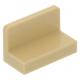 LEGO fal elem 1 x 2 x 1 lekerekített sarkokkal, sárgásbarna (4865b)