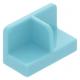 LEGO fal elem 1 x 2 x 1 középen elválasztással, közép azúrkék (93095)