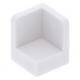 LEGO fal elem 1 x 1 x 1 lekerekített sarkokkal, fehér (6231)