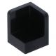 LEGO fal elem 1 x 1 x 1 lekerekített sarkokkal, fekete (6231)