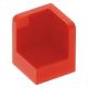 LEGO fal elem 1 x 1 x 1 lekerekített sarkokkal, piros (6231)