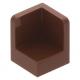 LEGO fal elem 1 x 1 x 1 lekerekített sarkokkal, vörösesbarna (6231)