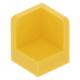 LEGO fal elem 1 x 1 x 1 lekerekített sarkokkal, sárga (6231)