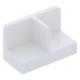 LEGO fal elem 1 x 2 x 1 középen elválasztással, fehér (93095)