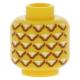 LEGO fej ananász mintával, sárga (15829)