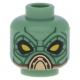 LEGO fej alien mintával (Embo, Star Wars), homokzöld (76702)