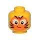 LEGO fej festett tigris arc mintával, sárga (56825)