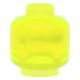 LEGO fej minta nélkül, átlátszó neon zöld (3626c)