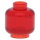 LEGO fej minta nélkül, átlátszó piros (3626c)