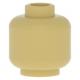 LEGO fej minta nélkül, sárgásbarna (3626)
