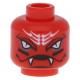 LEGO fej kígyófej mintával (Snappa, Ninjago), piros (99026)