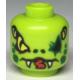 LEGO fej kígyófej mintával (Lasha, Ninjago), lime (43959)