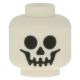 LEGO fej csontvázfej mintával, fehér (10879)