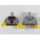 LEGO felsőtest cipzáros kapucnis pulóver mintával, világosszürke (88585)