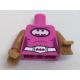 LEGO felsőtest Batman logó mintával, sötét rózsaszín (88585)