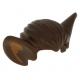 LEGO férfi rövid haj denevér fülekkel, sötétbarna (10377)