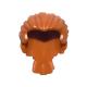 LEGO férfi haj hátul összefogva, sötét narancssárga (95226)