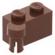 LEGO kocka csuklós elem 1×2 felső csatlakozóval, vörösesbarna (3830)