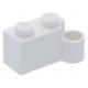 LEGO kocka csuklós elem 1×2 alsó csatlakozóval, fehér (3831)