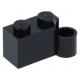 LEGO kocka csuklós elem 1×2 alsó csatlakozóval, fekete (3831)