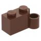 LEGO kocka csuklós elem 1×2 alsó csatlakozóval, vörösesbarna (3831)