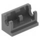 LEGO kocka csuklós elem alapja (zsanér) 1×2, sötétszürke (3937)