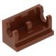LEGO kocka csuklós elem alapja (zsanér) 1×2, vörösesbarna (3937)
