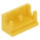 LEGO kocka csuklós elem alapja (zsanér) 1×2, sárga (3937)