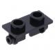 LEGO kocka csuklós elem lapos teteje (zsanér) 1×2, fekete (3938)