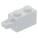 LEGO kocka csuklós elem (zsanér) 1×2 vízszintes csatlakozóval, fehér (30541)