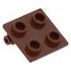 LEGO kocka csuklós elem lapos teteje (zsanér) 2×2, vörösesbarna (6134)