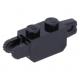 LEGO kocka csuklós elem (zsanér) 1×2 függőleges csatlakozókkal, fekete (30386)