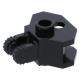 LEGO csuklós elem (zsanér) kettős villával és vonóhorog-foglalattal, fekete (30396)