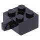 LEGO kocka csuklós elem (zsanér) 2×2 függőleges csatlakozóval, fekete (30389)