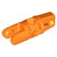 LEGO henger csuklós elem 1×3 egyik végén kettős villa-, másik végén kapoccsal, narancssárga (30554)