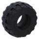 LEGO gumikerék Ø 24mm x 12mm, fekete (56890)