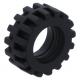 LEGO gumikerék Ø 15mm x 6mm, fekete (87414)