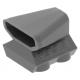 LEGO autómotor 2×2 levegőbeömlőnyílással, sötétszürke (50943)