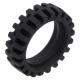 LEGO gumikerék Ø 24mm x 7mm, fekete (61254)