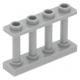 LEGO kerítés 1×4×2 tetején négy bütyökkel, világosszürke (15332)