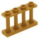 LEGO kerítés 1×4×2 tetején négy bütyökkel, gyöngyház arany (15332)