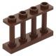 LEGO kerítés 1×4×2 tetején négy bütyökkel, vörösesbarna (15332)