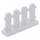 LEGO kerítés, 1×4×2, fehér (33303)