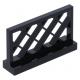 LEGO kerítés rácsos, 1×4×2, fekete (3185)